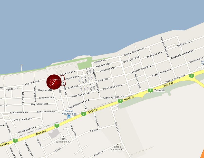 zamárdi térkép Megközelítés | Tieff apartmann házak balaton zamárdi térkép